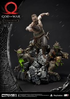 God of War (2018) - socha Baldur & Broods 62 cm