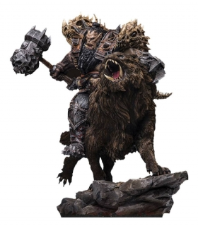 Warcraft: The Beginning - socha Blackhand Riding Wolf (Standard Version) 40 cm