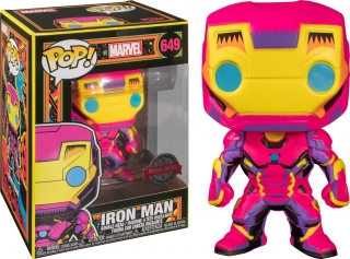 Marvel POP! - figúrka Black Light Iron Man 9 cm