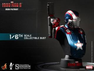 Iron Man 3 - busta Iron Man Iron Patriot 11 cm