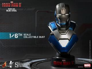 Iron Man 3 - busta Iron Man Mark XXX Blue Steel 11 cm